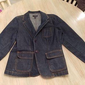 Women's petite XL Izod denim blazer
